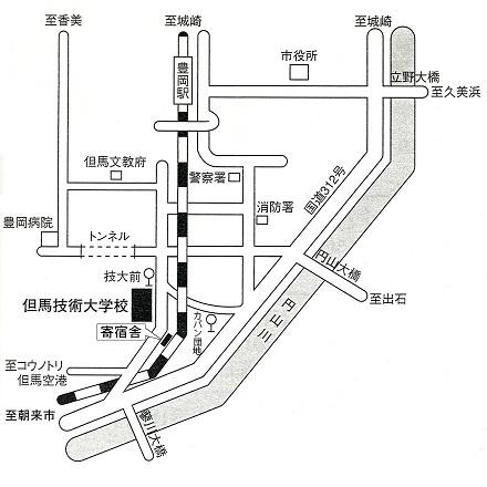 豊岡周辺の地図