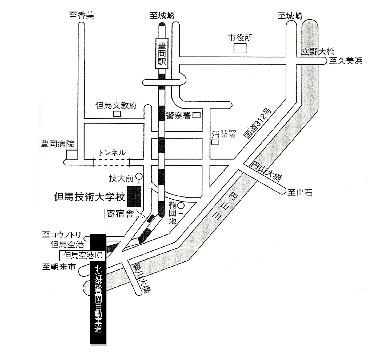 豊岡会場周辺の地図