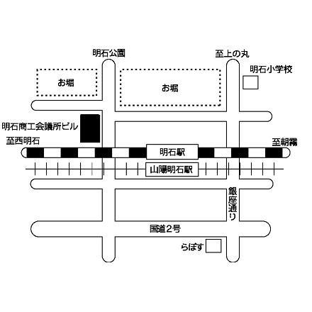 明石会場周辺の地図